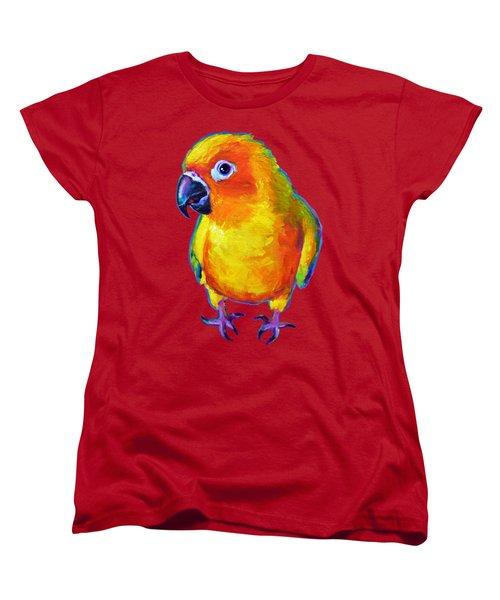 Sun Conure Parrot Women's T-Shirt (Standard Cut)