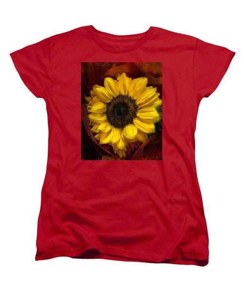 Sun In The Flower Women's T-Shirt (Standard Cut) by Arlene Carmel