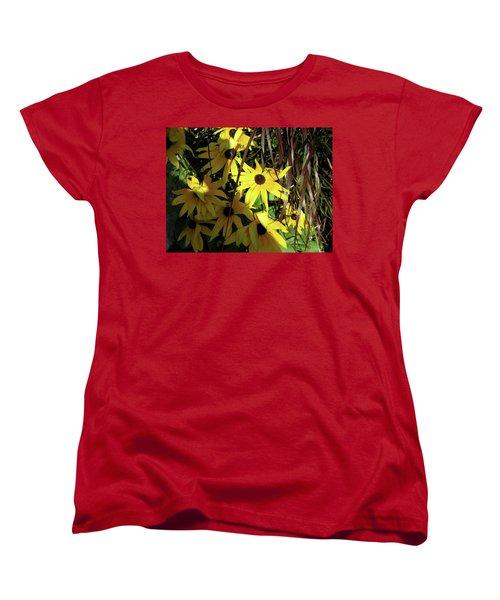 Sun Lit Diasies Women's T-Shirt (Standard Cut) by Michele Wilson