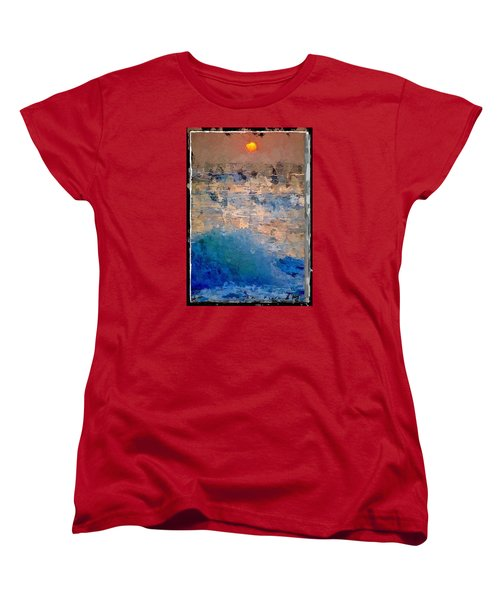 Women's T-Shirt (Standard Cut) featuring the digital art Sun Rays Abstract by Anthony Fishburne
