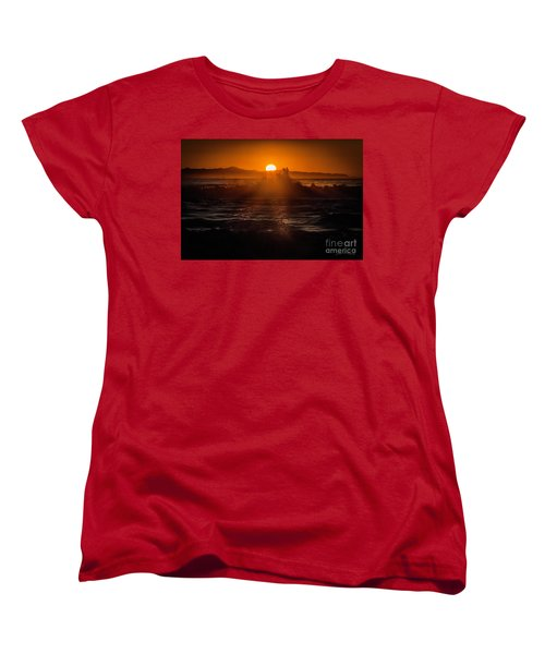 Sun Setting Behind Santa Cruz Island Women's T-Shirt (Standard Cut)