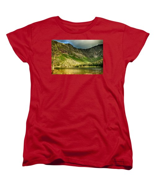 Sun Shining On Chimney Pond  Women's T-Shirt (Standard Cut) by Elizabeth Dow