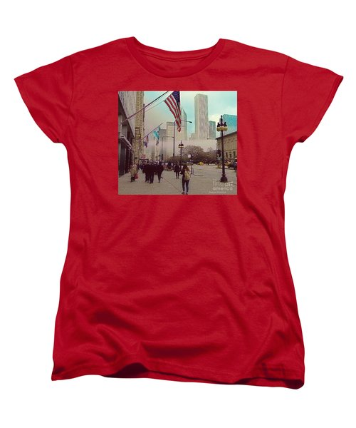 Sunday In The City Women's T-Shirt (Standard Cut) by Kathie Chicoine