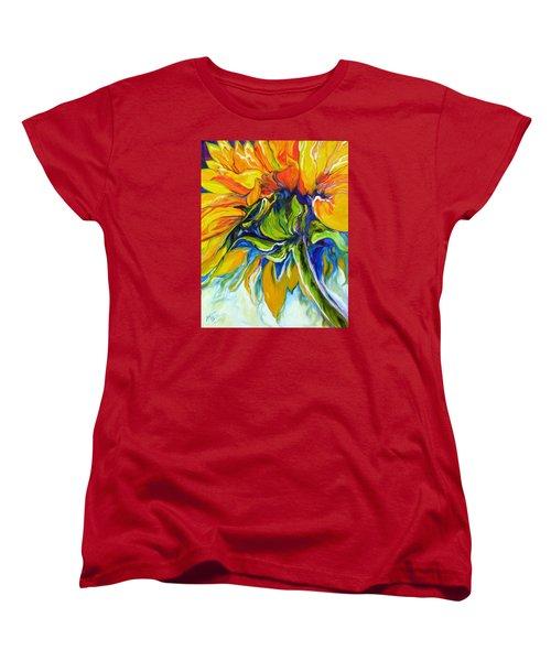 Sunflower Day Women's T-Shirt (Standard Cut) by Marcia Baldwin