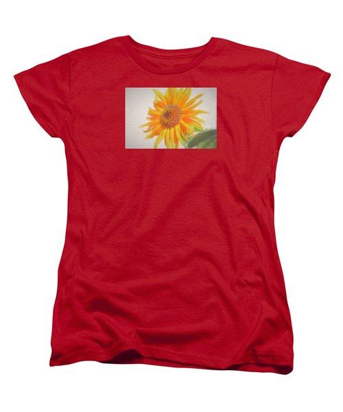 Sunflower Painting Women's T-Shirt (Standard Cut) by Debra     Vatalaro