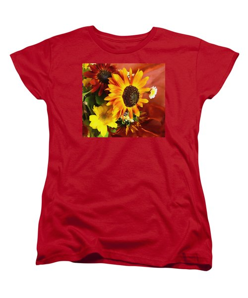 Sunflower Strong Women's T-Shirt (Standard Cut) by Kathy Bassett