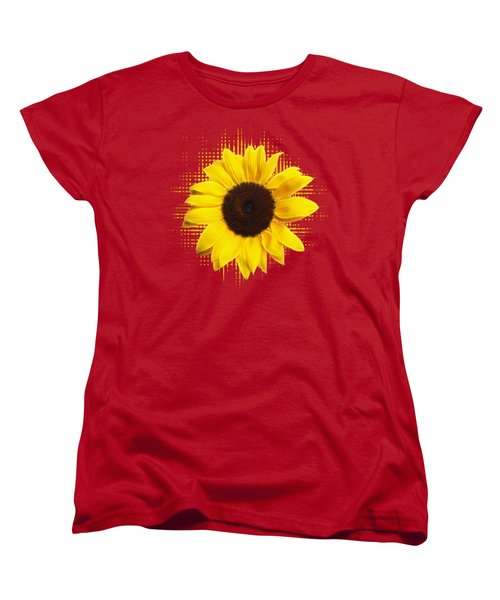 Sunflower Sunburst Women's T-Shirt (Standard Cut) by Gill Billington