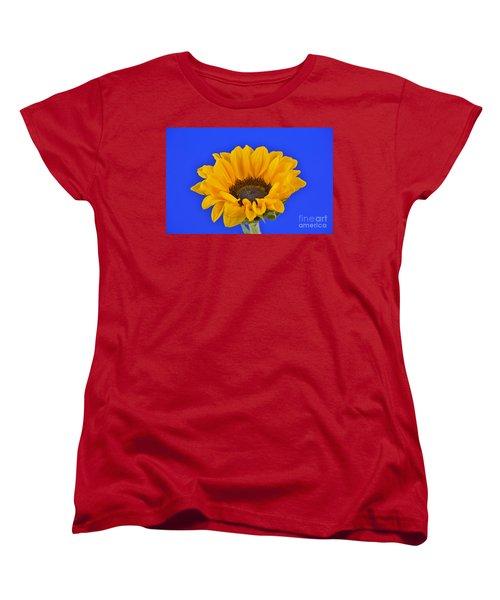 Sunflower Sunshine 406-6 Women's T-Shirt (Standard Cut) by Ray Shrewsberry