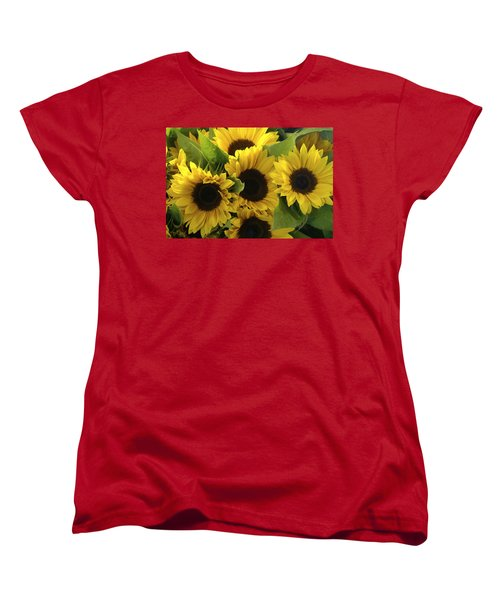 Sunflowers Women's T-Shirt (Standard Cut) by Henri Irizarri