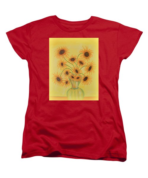 Sunflowers Women's T-Shirt (Standard Cut) by Marie Schwarzer