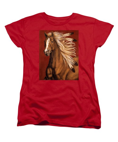 Women's T-Shirt (Standard Cut) featuring the painting Sunhorse by Pat Erickson
