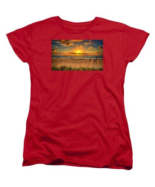 Sunny Beach To Warm Your Heart Women's T-Shirt (Standard Cut) by Rod Jellison