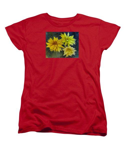 Sunny Yellow Women's T-Shirt (Standard Cut) by Barbara O'Toole
