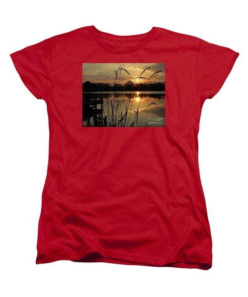 Sunrise At Grayton Beach Women's T-Shirt (Standard Cut) by Robert Meanor
