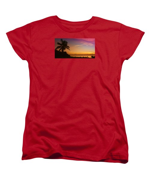 Women's T-Shirt (Standard Cut) featuring the photograph Sunrise Color by Don Durfee