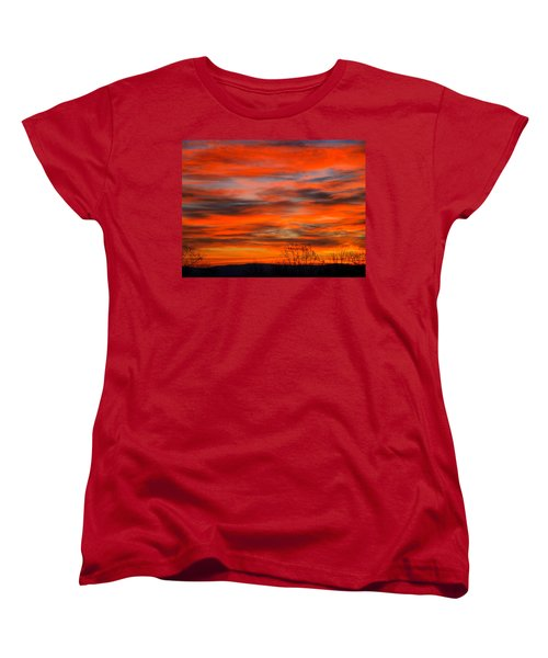 Sunrise In Ithaca Women's T-Shirt (Standard Cut) by Paul Ge