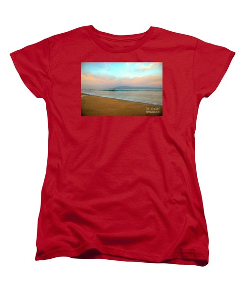 Women's T-Shirt (Standard Cut) featuring the photograph Sunrise On Ka'anapali by Kelly Wade