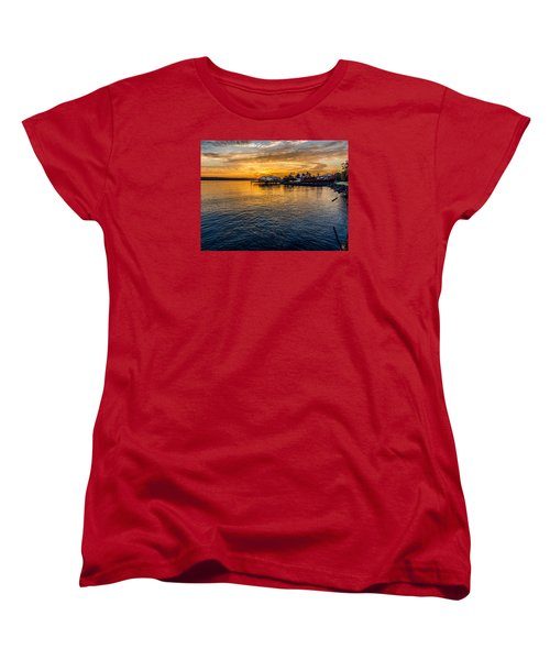 Sunrise Over Commencement Bay Tacoma, Wa Women's T-Shirt (Standard Cut) by Rob Green