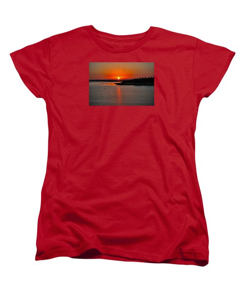 Women's T-Shirt (Standard Cut) featuring the photograph Sunrise Over Lake Ray Hubbard by Diana Mary Sharpton