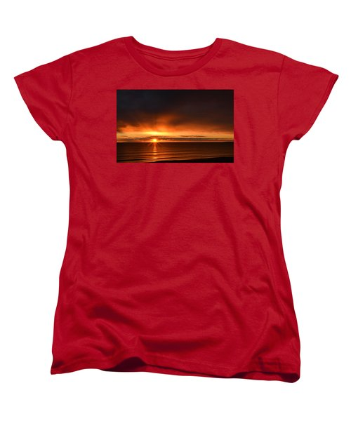 Sunrise Rays Women's T-Shirt (Standard Cut) by Nancy Landry