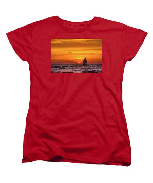 Women's T-Shirt (Standard Cut) featuring the photograph Sunrise Solo by Bill Pevlor
