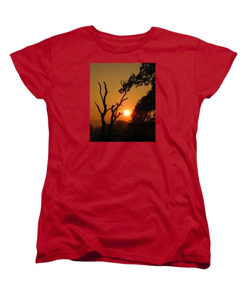 Sunrise Trees Women's T-Shirt (Standard Cut) by RKAB Works