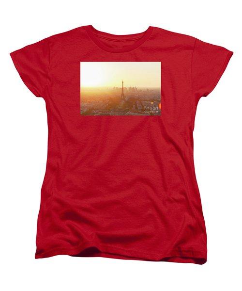 Sunset Above Paris Women's T-Shirt (Standard Cut) by Anastasy Yarmolovich