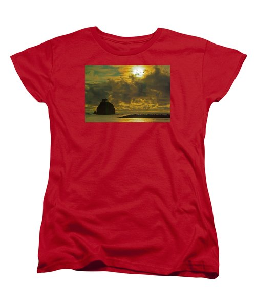 Women's T-Shirt (Standard Cut) featuring the photograph Sunset At Jones Island by Dale Stillman