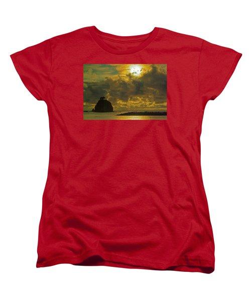 Sunset At Jones Island Women's T-Shirt (Standard Cut) by Dale Stillman