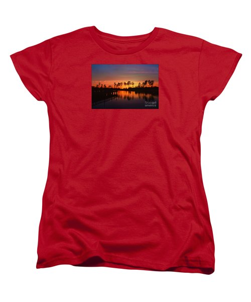 Sunset At Market Commons II Women's T-Shirt (Standard Cut) by Kathy Baccari