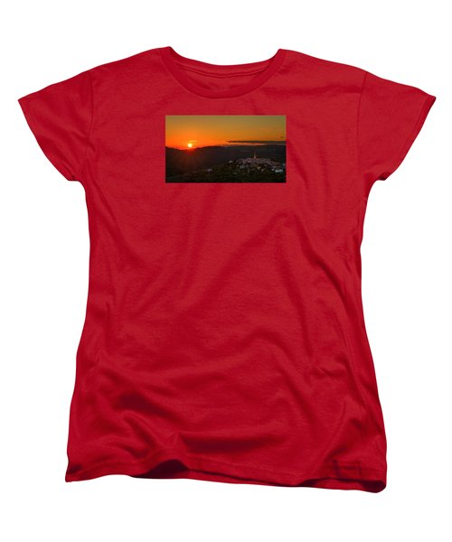 Sunset At Padna Women's T-Shirt (Standard Cut) by Robert Krajnc
