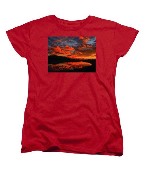 Sunset At Wallkill River National Wildlife Refuge Women's T-Shirt (Standard Cut) by Raymond Salani III