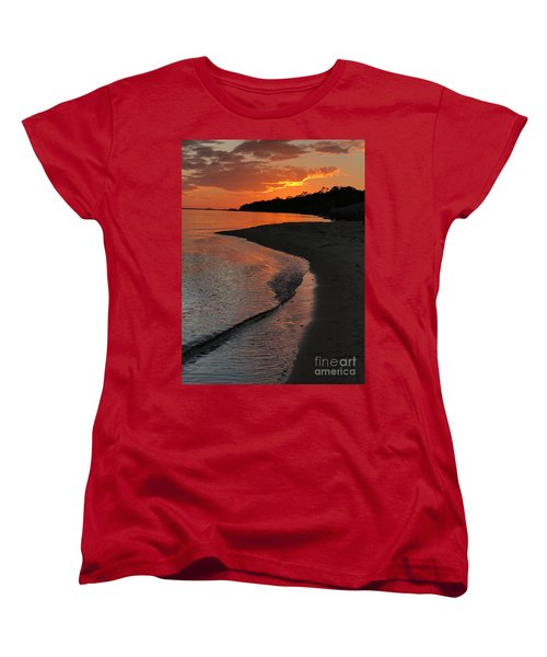 Sunset Bay Women's T-Shirt (Standard Cut) by Lori Mellen-Pagliaro
