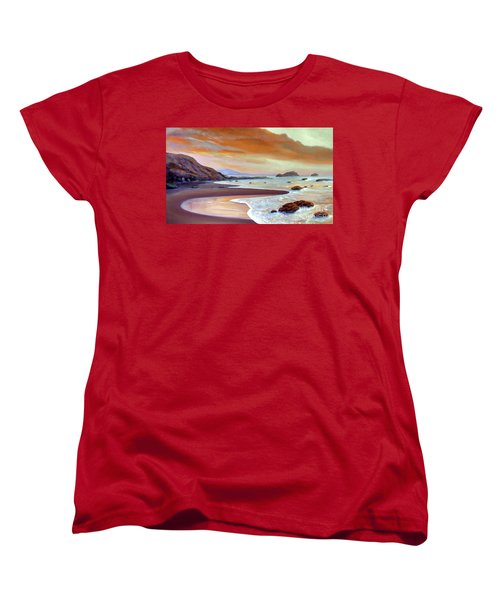 Sunset Beach Women's T-Shirt (Standard Cut) by Michael Rock