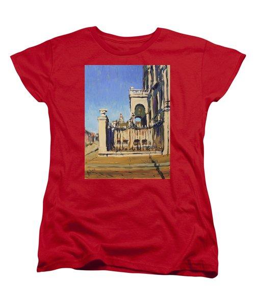 Sunset Cityhall Maastricht Entrance Women's T-Shirt (Standard Cut) by Nop Briex