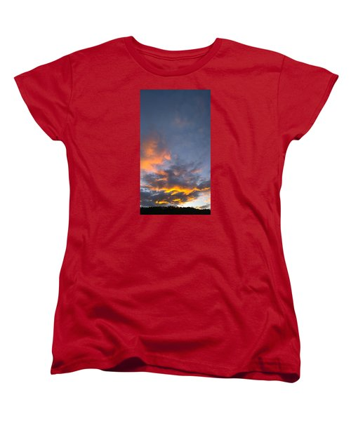 Women's T-Shirt (Standard Cut) featuring the photograph Sunset Cloud Scape Over Bryson City Nc by Kelly Hazel