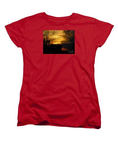 Sunset From Farm Women's T-Shirt (Standard Cut) by Craig Walters