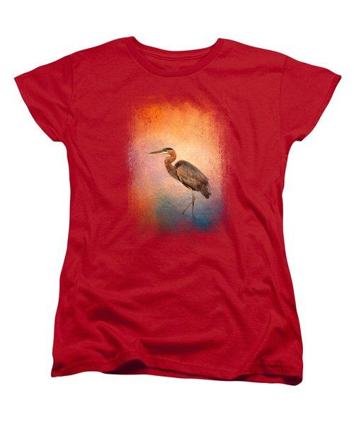 Sunset Heron Women's T-Shirt (Standard Cut)