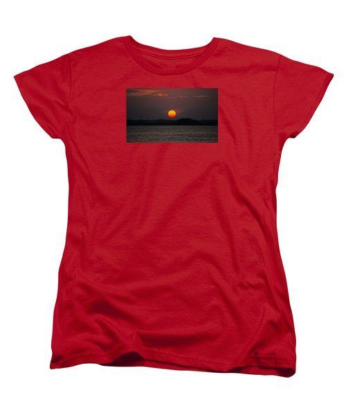 Sunset In Biloxi Women's T-Shirt (Standard Cut) by Cathy Jourdan