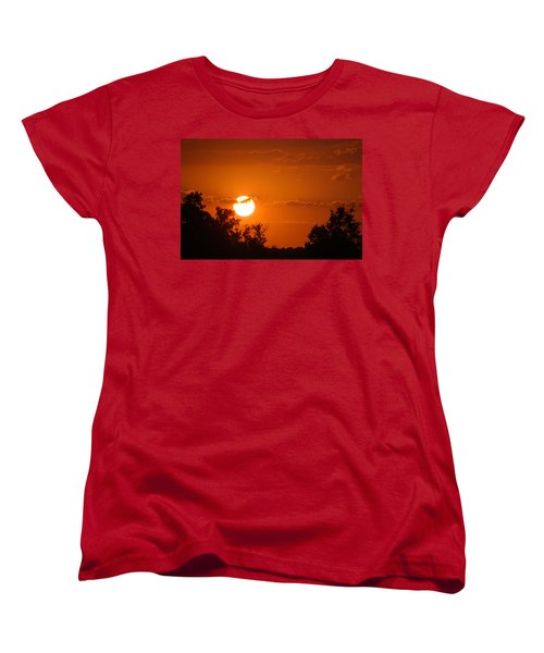 Women's T-Shirt (Standard Cut) featuring the photograph Sunset In Charleston by Donna Bentley