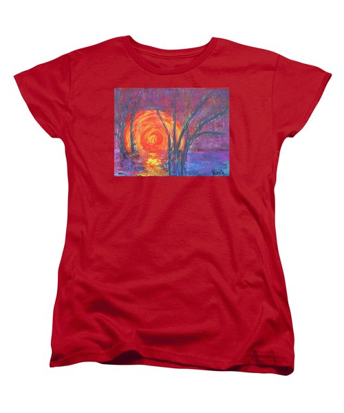 Sunset Women's T-Shirt (Standard Cut) by Karin Eisermann