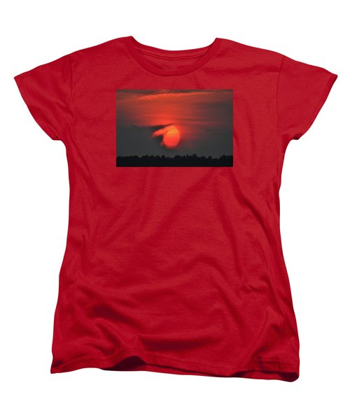 Sunset On Plum Island Women's T-Shirt (Standard Cut) by Nancy Landry