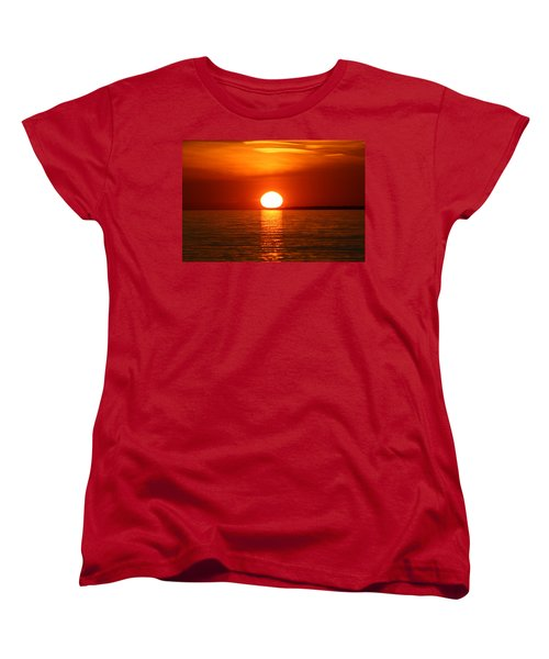 Women's T-Shirt (Standard Cut) featuring the photograph Sunset On Superior by Paula Brown