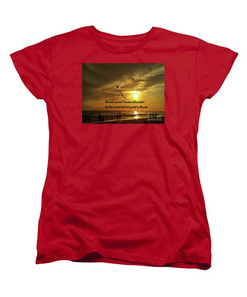Women's T-Shirt (Standard Cut) featuring the photograph Sunset On The Beach by Gary Wonning