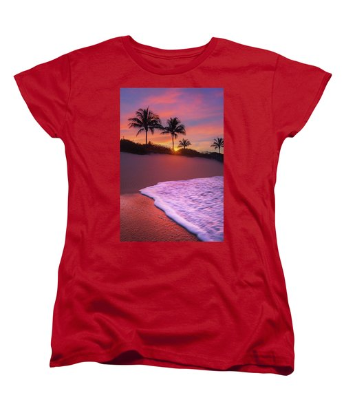 Sunset Over Coral Cove Park In Jupiter, Florida Women's T-Shirt (Standard Cut) by Justin Kelefas