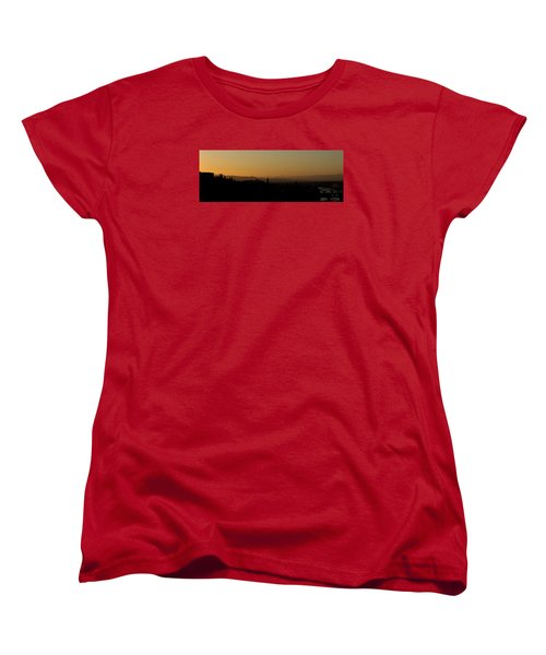 Women's T-Shirt (Standard Cut) featuring the photograph Sunset Over Florence by Wade Brooks