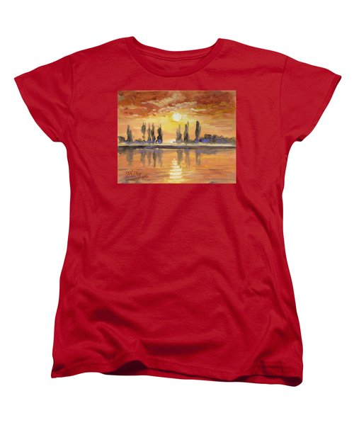Sunset Over The Lake Women's T-Shirt (Standard Cut)
