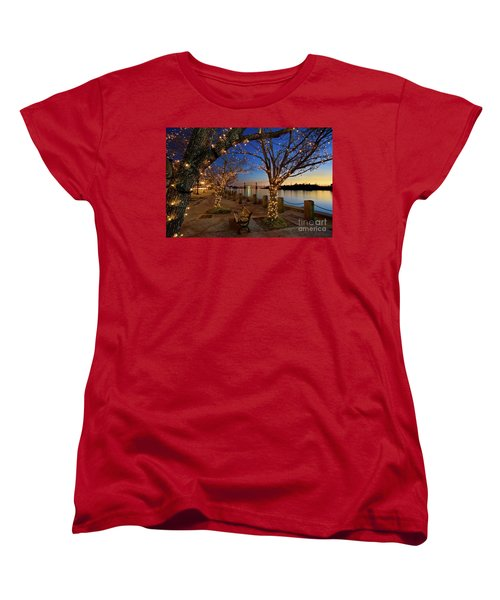 Sunset Over The Wilmington Waterfront In North Carolina, Usa Women's T-Shirt (Standard Cut) by Sam Antonio Photography