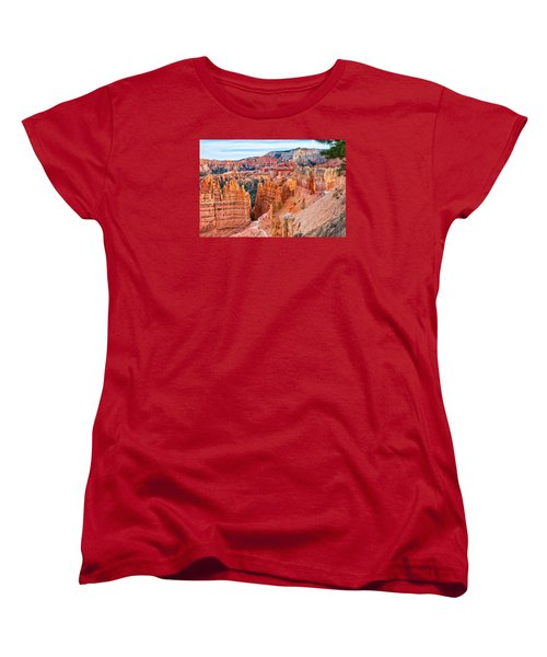 Women's T-Shirt (Standard Cut) featuring the photograph Sunset Point Tableau by John M Bailey