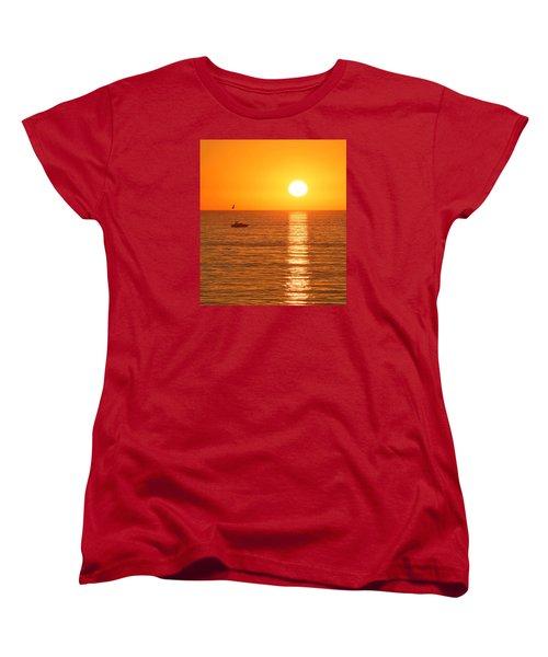 Sunset Solitude Women's T-Shirt (Standard Cut) by Ed Clark